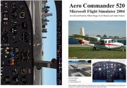 Fs2004 Manual/checklist Aero Commander 520 image 1