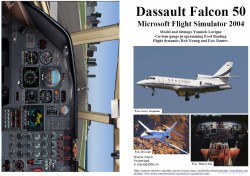 FS2004 Manual/Checklist Falcon 50 CAEA image 1