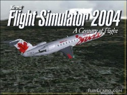 FS2004 Splash Screen featuring Air Canada Jazz image 1