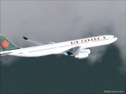 FSpainter Air Canada A340-500 Flightsim image 2