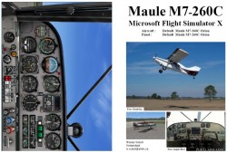 FSX Manual/Checklist Default Maule M7-260C image 1