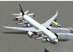 FSX Aircraft: Emirates Airbus A350-900 image 1