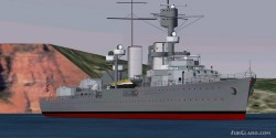 FS2004 Pilotable German Light Cruiser image 2
