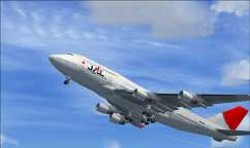 FSX Boeing 747-400 JAL airlines International image 1