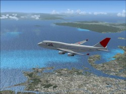 FSX Boeing 747-400 JAL airlines International image 9