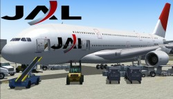 FS2004/FSX JAL Japan Airlines A380-800 Japan image 1