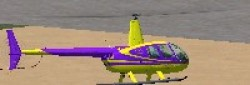 Robinson R44 Purple and Yellow repaint image 1