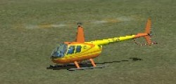 Robinson R44 Orange and yellow repaint image 1
