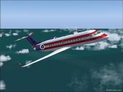 FS2004 Fourth July Bombardier CRJ-200LR image 1