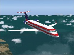 FS2004 Fourth July Bombardier CRJ-200LR image 2