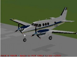 Flightsim FS2004/FS98 Beechcraft King Air C90 image 1