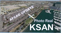 FSX AFCAD Update KSAN Photo Real Scenery image 1