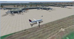 FSX AFCAD Update KSAN Photo Real Scenery image 2