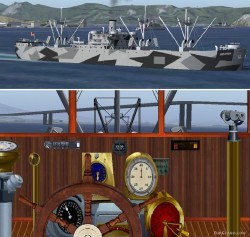 FS2004/FS2002 Libertyship camouflage paint image 1