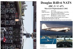 Fs2002 Manual/checklist Douglas R4d-6 Nats image 1