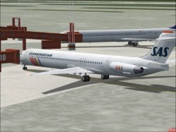 GMax model four MD-81s SAS livery image 2