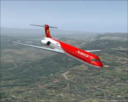 FS2004 Avianca Colombia MD 83 2005 Livery image 1