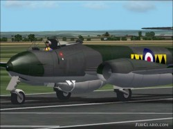 Fs2002 Aircraft: Gloster Meteor F Mk 8 Vz494 image 1