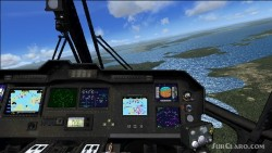 FSX panel with glass cockpit gauges MH-53 image 1