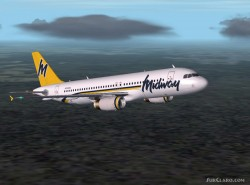 FS2004 -ifdg airbus A320-200 Midway Model image 1