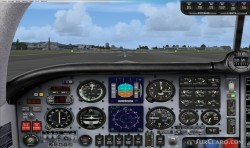 FSX Mooney Bravo partial glass panel image 1