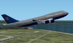 Fs2002 Boeing 747-400 United Airlines United image 1