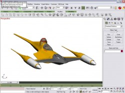 Detailed FS2002 Naboo Fighter Model With R2 image 1