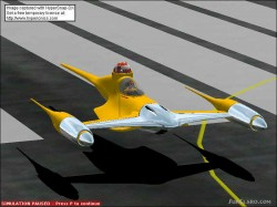 FS2002 Star Wars Naboo Fighter model with R2 image 1