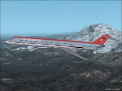 FS2002 Ai Md-83 Northwest Colours image 1