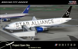 FS2004 FSX United Airlines N218UA Star Alliance image 1