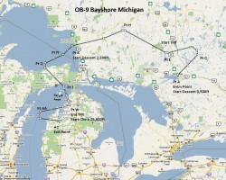 FSX Flight Plan OB-9 Bayshore Michigan image 1