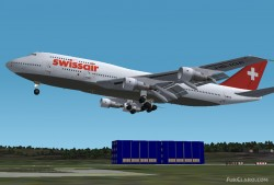 Fs2002 Project Opensky Swissair Nc 747-300 image 1
