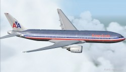 FS2004 FSX American Airlines Boeing 777-200 image 1