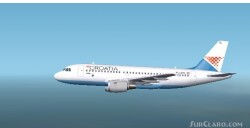 Fs2002 A319 Croatia Airlines Textures repaint image 1