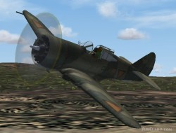 FS2004/FSX Curtiss P-36 Dutch image 1