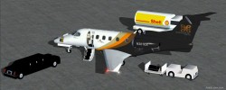 FSX Executive Express Embraer Phenom 300 Biz image 2