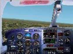 FS2002 Pro Photoreal Panel Piper Pa-31 Chieftan image 1