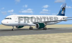 FSX Frontier Airlines A320-214 N205FR image 1