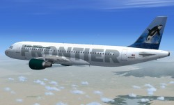 FSX Frontier Airlines A320-214 N205FR image 2