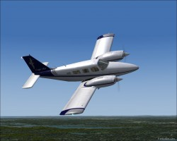 FS2004 Piper PA-34 Cape Air Repaint image 1