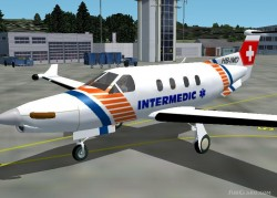 Fs2002 Pilatus Pc-12 - Intermedic Air Ambulance image 1