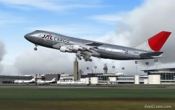 Boeing 747-200F Japan Airlines Cargo FS2004 image 1