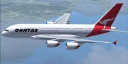 FSX Airbus A380-800 High quality Gmax model image 1