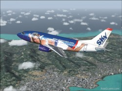 Fs2004 B737-500 SkyEurope Zsussana Boeing image 1