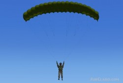Parachute Jumper realistic freefall and open image 1