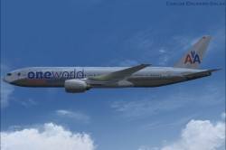 FSX American Airlines BOEING 777-200 ER N791AN image 1