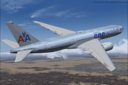 FSX American Airlines BOEING 777-200 ER N791AN image 2