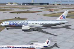 FSX American Airlines BOEING 777-200 ER N791AN image 4
