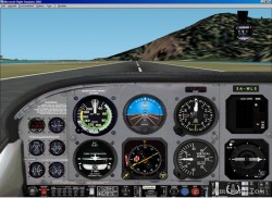FS2002 picturerealistic panel Cessna T206 image 1