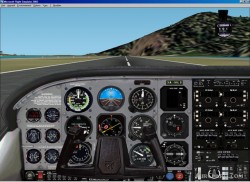 FS2002 picturerealistic panel Cessna T206 image 2